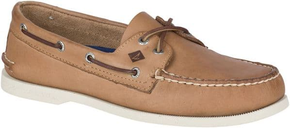 Sperry Authentic Original Leather Lace Mens Shoes Cream